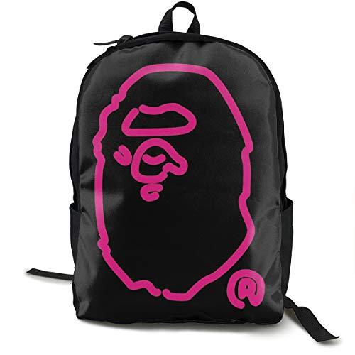Bape Rucksack, Daypack Tagesrucksack Für Schule, Arbeit Und Uni, Sportrucksack Und Schultasche Mit Laptopfach Und Rückenpolster