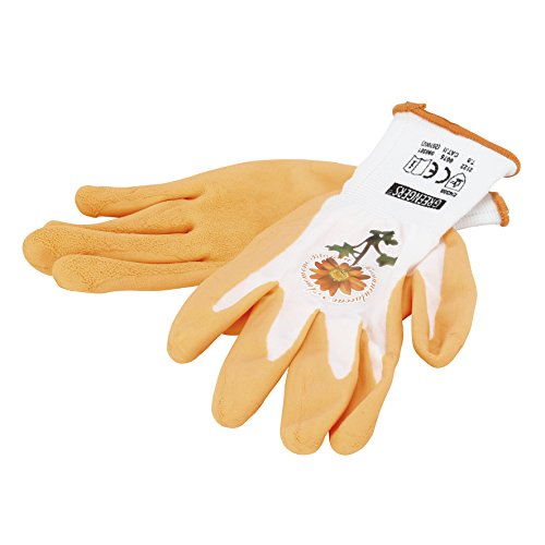 Greengeers 90301 Gant Nylon Enduit Latex décoration, Orange/Blanc