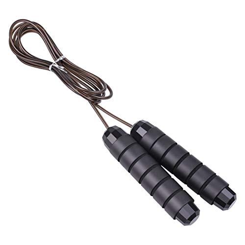 KOLOSM Cuerda para Cuerda de Salto rápido de la Cuerda de Salto de la Cuerda de la Cuerda de la Cuerda, Gimnasio Fitness en casa Ejercicio Delgado Cuerpo (Color : Black)