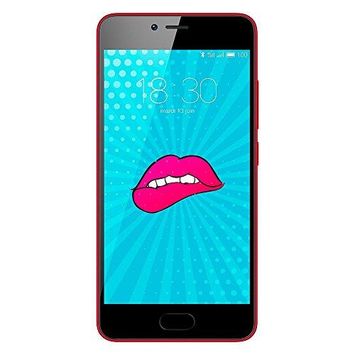 "Meizu M5c - Smartphone de 5"" (memoria interna de 16 GB, HD 720p), Rojo"