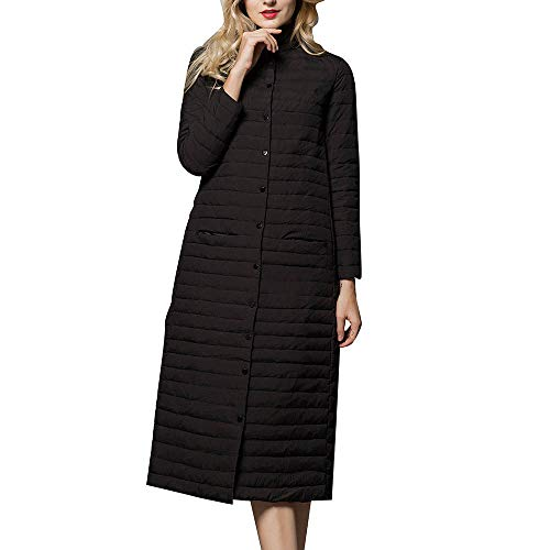 DPKDBN dames donsjack, inpakbaar donsjack lange donsjas Lady Enlarged lichtgewicht Duvet Over Knee Lange mantel met verticale kraag