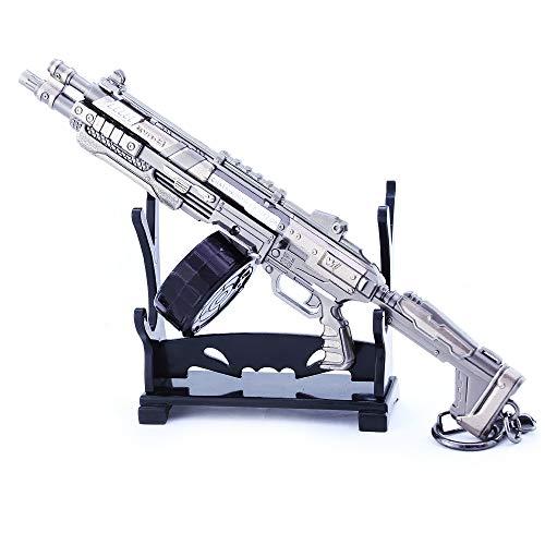 QISUO EVA-8 Auto Shotgun Gun Metal Arma Juguete Modal Gaming Periféricos Gran regalo para niños Colgante Llavero Mini Figura de Acción Arte Colección Suministros Decoración de Escritorio Pistola