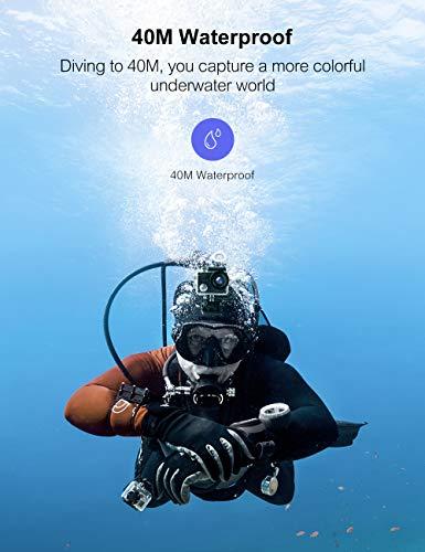 CrosstourCT85004K20MPアクションカメラ外部マイクPCウェブカメラWiFiブログカメラEIS水中40M防水カメラリモコンと取り付けアクセサリーキット付き