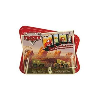 Mattel - M1900 - Voiture - Cars Mini Aventures 2Pk Sergent + Flash McQueen
