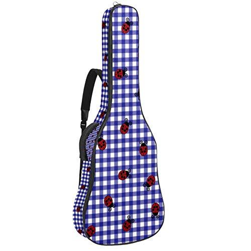 Ladybug - Bolsa para guitarra acústica con correa para el hombro y asa de transporte