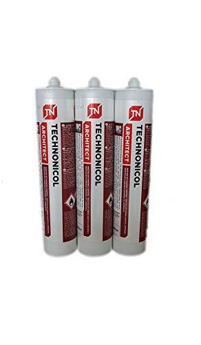 3x PROFI Dach Dicht Reparatur Bitumenkleber Kaltkleber Dichtstoff Bitumendichter schwarz Kartusche 310 ml