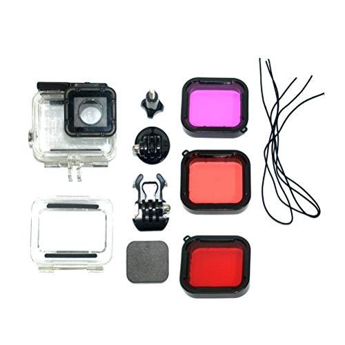 Uonlytech GOPRO5 5 6 Zubehör Wasserdichter Schutzfilter-Objektivdeckel für GoPro 5 6 Sports Action Camera