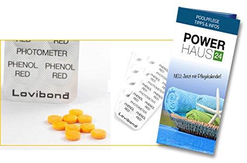 250photometer/Scuba II® o Pool Can prueba pastillas Phenol Red (25tiras con por 10Fenol Red prueba pastillas)