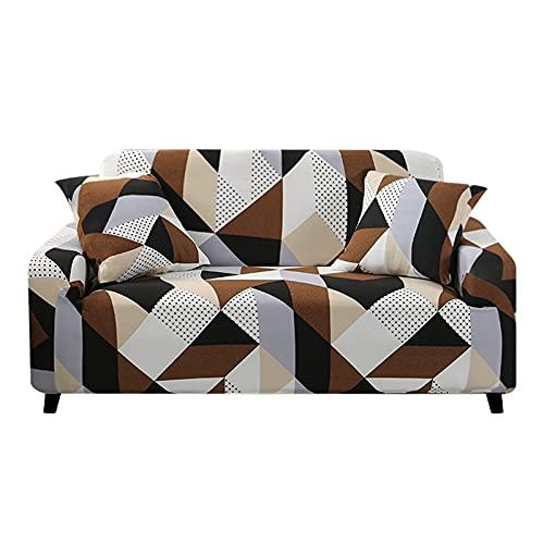 Fundas elásticas Funda de sofá elástica para Sala de Estar Funda de sofá seccional en Forma de L Funda de sillón A15 2 plazas