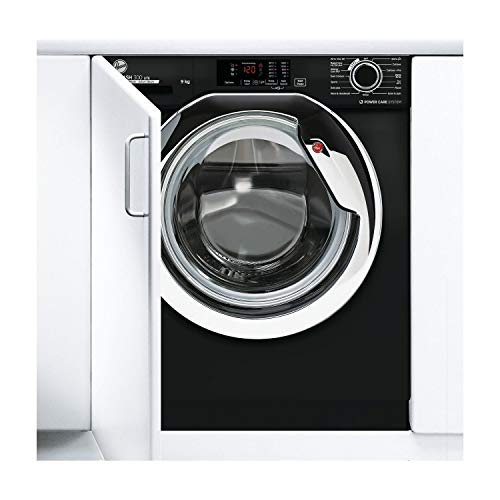 Hoover HBWS49D3ACBE/80 H-WASH 300 9kg 1400rpm Integrated Washing Machine - Black