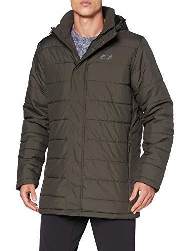 Jack Wolfskin Herren SVALBARD COAT MEN winddichter Wintermantel, Brownstone, S