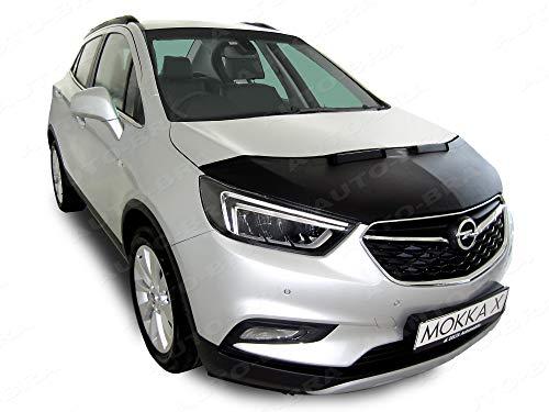 AB3-00175 Auto Bra kompatibel mit Opel Vauxhall MOKKA X Bj. 2016-2019 Haubenbra Steinschlagschutz Tuning Bonnet Bra