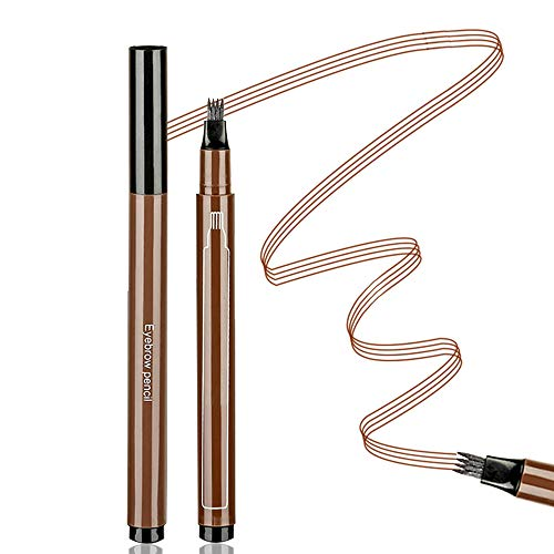 Aaiffey Eyebrow Tattoo Pen Waterproof Microblading Eyebrow Pencil with Micro-Fork Tips Applicator Creat Daily Natural Brows Makeup Long Lasting