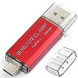BorlterClamp 32GB Chiavetta USB 3.0 Type-C, 2 in 1 Pen Drive (USB Type C & USB 3.0) USB C Memoria Flash, OTG USB Flash Drive Girevole per Android Smartphone/Tablet/Computer (Rosso)