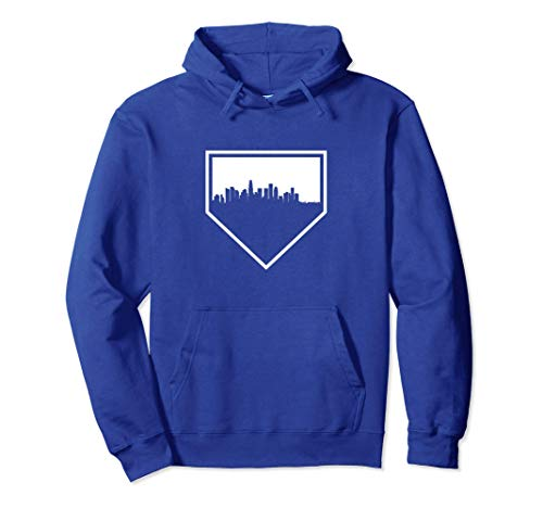 Vintage Los Angeles Baseball LA Home Skyline Pullover Hoodie