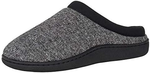 Hanes Men s ComfortSoft Memory Foam Indoor Outdoor Clog Slipper Shoe Black Medium product image