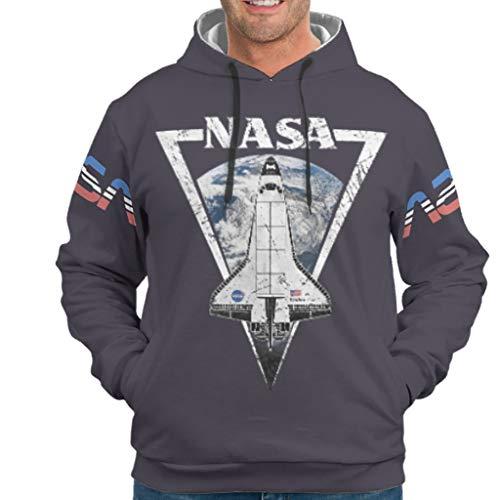 O5KFD&8 Herren Kapuzenjacke Jungen NASA Spacecraft Drucken Lässig - NASA Baumwolle Weich Trainingsjacke White 3XL