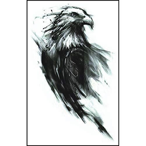 Kashyk 2PC Eagle Tattoo Sticker, niedliche Persönlichkeit Tier temporäre Tattoo Sticker, umweltfreundlich, ungiftig, wasserdicht, langlebig, Body Art, Party, Reisen