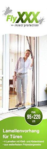FlyXXX® Lamellenvorhang 4-teilig für Türen max. 95 x 220 cm Insektenschutz Türvorhang Fliegengitter