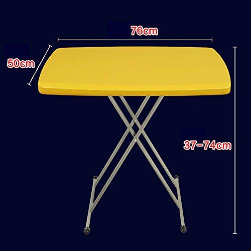 LVZAIXI Table Pliante Ronde de Table de Bistro (Couleur : Le Jaune)