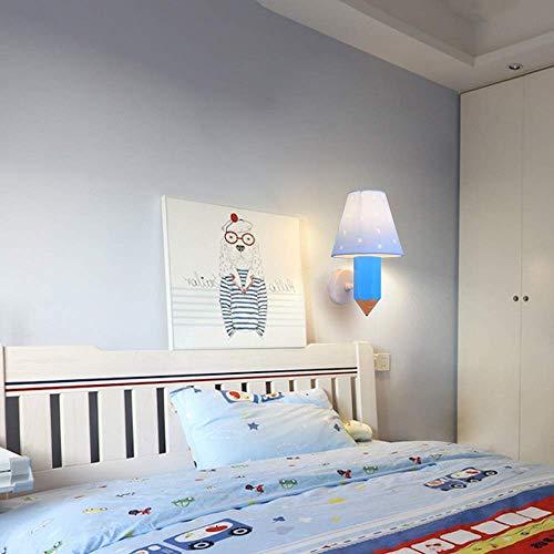 * Wandlamp voor kinderkamer jongens meisjes kamer allee Middellandse zee bedlampje minimalistisch Europese cartoon creatief modern (design: B)