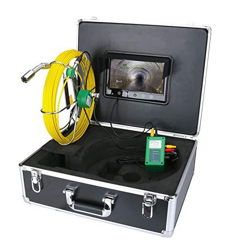 "9\"" TFT Display 1000TVL LEDs Nachtsicht-Endoskop-HD-Videokamera Abflussrohr Kanalinspektion Videokamera,50m"