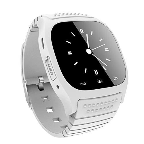 YGQNH M26 Life Reloj Inteligente A Prueba De Agua Reloj Inteligente Bluetooth Reproductor De Música Podómetro Deportivo para iOS para Teléfono Inteligente Android, Fácil De Usar(Color:Blanco)