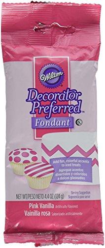 Wilton 4.4 oz Decorator Preferred Fondant Pack, 4.4 ounce, Pink