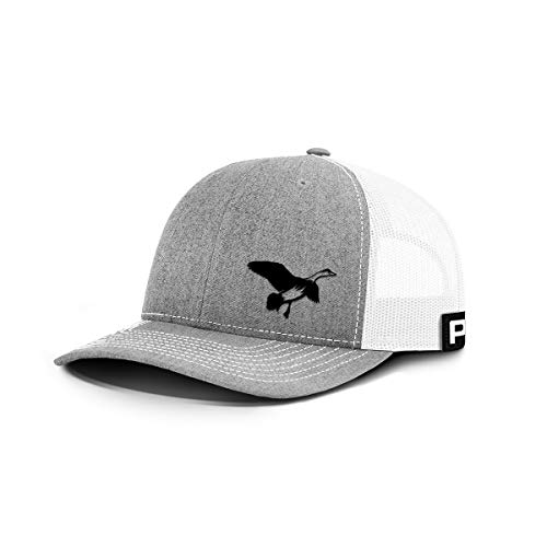 Printed Kicks Duck Hunting Back Mesh Hat Outdoor Bird Hunter Cap (Heather Front/White Mesh)