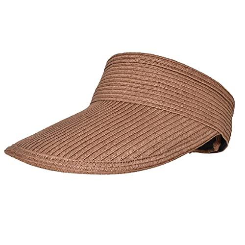 Chapeau de soleil d'été casquette pliable durable rayons anti-ultraviolets haut léger et vide casquette de plage durable pour femmes - kaki