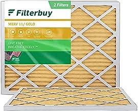 FilterBuy 18x24x1 Air Filter MERV 11, Pleated HVAC AC Furnace Filters (2-Pack, Gold)