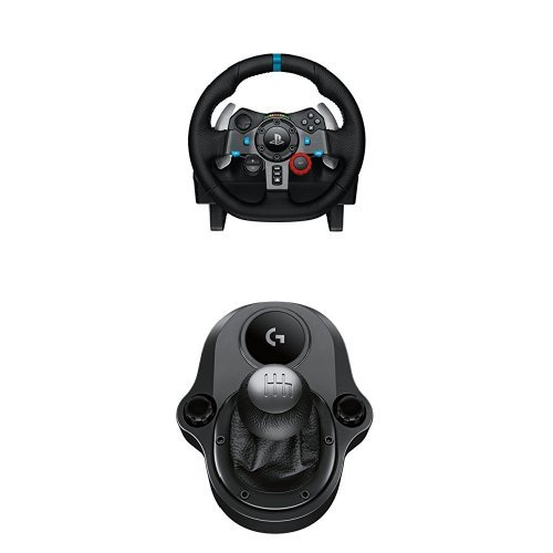 Logitech G29 Driving Force Volante da Corsa per PS4/PS3/PC e Driving Force Manopola del Cambio