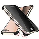 Privacy Magnetic Case for iPhone Xs MAX 6.5' Anti Peep Clear Double Sided Tempered Glass [Reinforced 4 Corners Silicone] [Magnet Absorption Metal Bumper Frame] Thin Anti-Spy Full Protective Phone Case