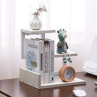 木材 卓上収納ケース,調整可能 多目的 フリースタンディングデスクトップブックシェルフ 誕生日プレゼント 家の装飾-b 30x23.5x31cm(12x9x12inch)