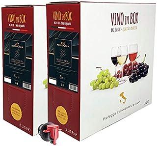 Vino rosso Nero di Troia IGT Puglia - 2 Bag in box da 5 litri - Vino rosso prodotto da uve pugliesi al 100%