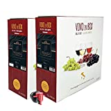 Vino rosso Nero di Troia IGT Puglia - 2 Bag in box da 5 litri - Vino rosso prodotto da uve...