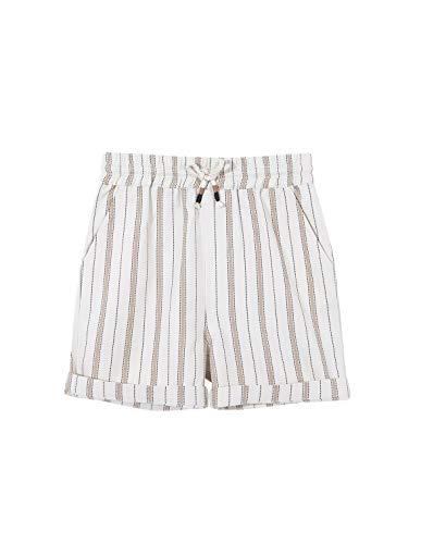 Gocco Bermuda Rayas Pantalones, Marrón (Arena S02pstca301sa), 7 años (Tamaño del Fabricante: T: 7-8) para Niños