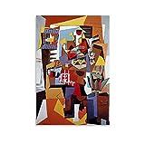 DHNBHJUGY Picasso - Póster de la jaula de pájaros y arte para pared, diseño moderno, 60 x 90 cm