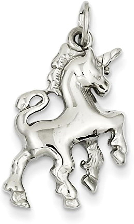 Diamond2Deal 14k White gold Unicorn Pendant