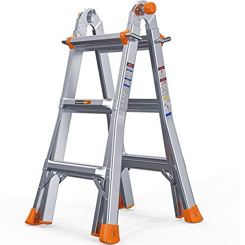 OT QOMOTOP 13 FT Multi-Position Telescoping Ladder for...