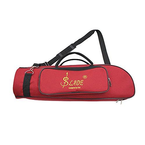 Andoer® 600D Resistente al Agua Trompeta Gig Bag Tela Oxford Ajustable Sola Correa de Hombro del Bolsillo de 5mm Acolchado de Algodón