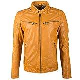 Gipsy GB Derry Laorv Männer Lederjacke gelb L 100% Leder Basics (XL)