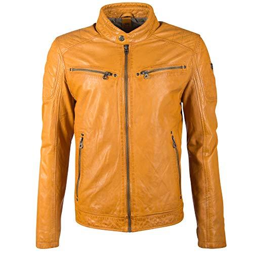 Gipsy GB Derry Laorv Männer Lederjacke gelb L 100% Leder Basics (M)