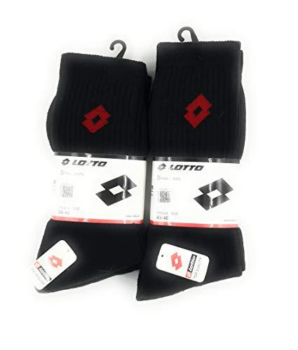 Lotto Socken, kurz, Frottee, 6 Paar, Schwarz 43/46