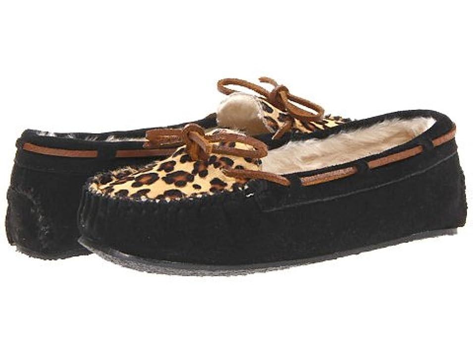 脳写真を描く令状MINNETONKA ミネトンカ Leopard Cally Slipper レオパード キャリー モカシン 40160 40161【正規品】BLACK 7