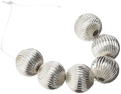 Expo bd52766Plissee Metall Perlen, Set von 6