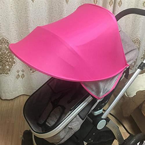 Rameng Canopy bébé Parasol Couverture Pour Poussette Canne Compacte Pare-soleil Poussette Universel (rose)