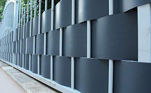 Pinto FERRAMENTA Rete Pannelli PVC Plastica Ombreggiante Frangisole Frangivista Frangivento Telo Telone Recinzioni Giardino Balconi Rete Ombra Privacy H95cm x 2.50mt (5 striscie) Colore Verde