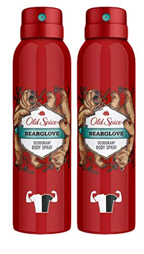 Old Spice Deodorant Body Spray, Bearglove Scent for Men, 5.07 Ounce (Pack of 2)