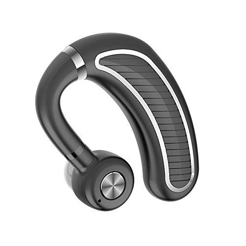 MMPY Alta Potencia Auricular Bluetooth Gancho para la Oreja Negocio inalámbrico Música Deportes Auricular Espera Larga (Color : Black Silver)